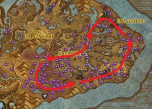 La ruta óptima de farmeo de Zin'Anthid